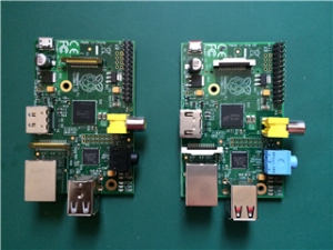 Raspberry Pi Rev.1、2基板表