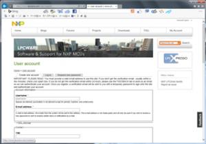 LPC810ユーザー登録
