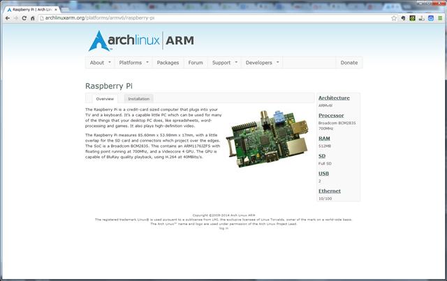 arch linux インストール