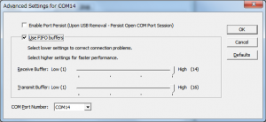 PSoC USB COMポート変更